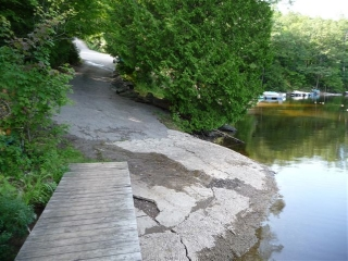 Private boat ramp included